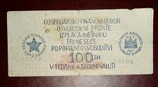 BANCONOTA PARTIGIANI SLOVENIA DECR 1942 BB MOLTO RARA
