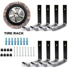 8pcs Heavy Wall Mount Tire Rack Garage Storage Hooks Space Saving Wheel Holder