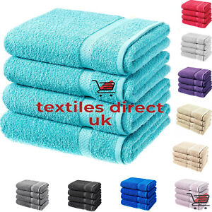 Bath Sheets 4 Pack Large Jumbo New Stock 100% Soft Combed Cotton Pack Of 1, 2, 4