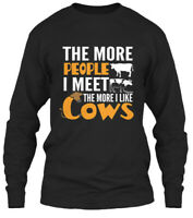 Teespring Garry Funny Cow Lover Gift I Love Cows More Classic Long Sleeve Tee