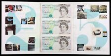 Great Britain UK England 1990 Banknotes 5 Pounds Sheet UNC