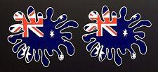 AUSTRALIAN Flag Paint Splat Car / Helmet Stickers Iphone Ipad Wall Art Holden V8