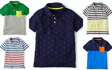 BOYS NEW EX MINI BODEN JERSEY POLO TOP TSHIRT SHIRT 18-24 2 3 4 5 6 7 8 9 10 yrs