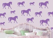 CAVALLI-Viola-Confezione da 16 Wall art Adesivi Decalcomanie Murales Cavallo Pony