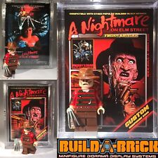 Freddy Krueger Nightmare Horror Minifigure w Display Case Lego Type Custom 391