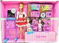 Kids Girls Pretend Play Set Role Play Teacher Student Desk School Classroom Gift