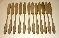 CHRISTOFLE   ménagère de 12 couteaux à poisson en métal argenté modèle Albatros