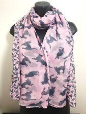 Cat Animal Print Scarf Baby Pink