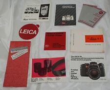 Vintage Leitz Leica Literature / Manuals / Stickers