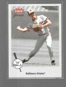 2002 Fleer Greats Cal Ripken Jr. #1 Orioles