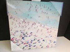 """Ocean Beach Sunbathers Picturesque Box Plaque, 12"""" Square, New"""