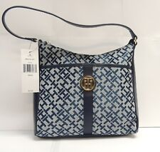 Tommy Hilfiger Blue Top Handle Hobo Handbag Leather 6943172471 - FREE SHIPPING