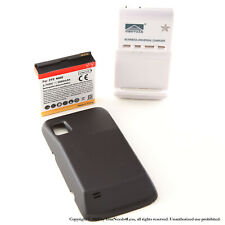 3800mAh Extended Battery for ZTE Warp N860 Boost Mobile Black Cover Charger