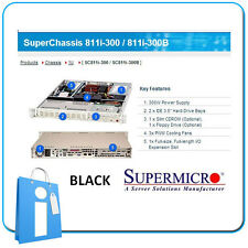 Supermicro 811i-300b 300W Black - 1 u rack Server chassis Cse-811i-300b