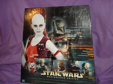 STAR WARS MASTER EDITION LIMITED AURRA SING FIGURE AND ILLUSTRATED BOOK NRFB