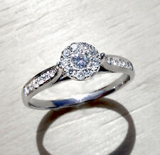 Goldschmuck Ringe Diamanten 18 Karat 750er Weißgold Brillantring 0,24 Karat Neu