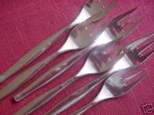 Bruckmann Party 90 versilbert 6 Kuchengabeln 15,4 cm