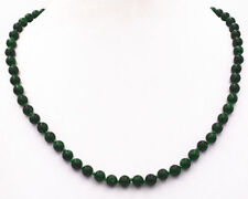 6mm Natural Noble Two-color Jade Gemstone Necklace 18Inch JN1939
