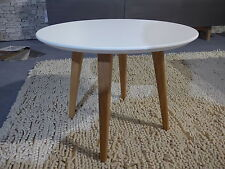 Beistelltisch Couchtisch Rund aus Tischlerei - Design Tisch weis lackiert NEU