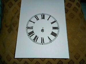 "Waterbury Steeple PAPER (CARD) Clock Dial - 5"" MINUTE TRACK - Roman- MATTE WHITE"