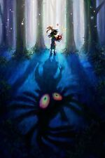 Majoras Mask Skull Kid - Beautiful -  Huge Poster 30 in x 20 in - ( 2 of 3 Set )