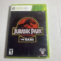 Jurassic Park The Game (Microsoft Xbox 360, 2011) Complete Video Game Free Ship