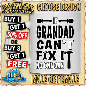 PERSONALISED FIX IT MUG Christmas Birthday Fathers Mothers Valentines Gift Cup