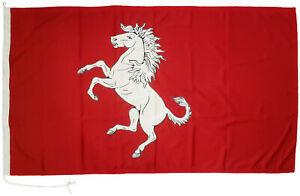 Kent county Invicta flag horse mod sewn woven polyester stitched embroidered