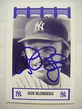RON BLOMBERG signed The Wiz YANKEES 1970s baseball card AUTO Autographed 1969-76