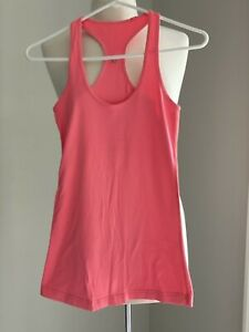 Lululemon Women's Size 2 or 4 Cool Racerback Athletic Tank Top Orange Coral Pink