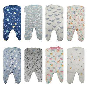Ex chainstore Babygrow Sleepsuit Cotton Boys Girls 0-18 Months NEW