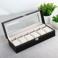 2/6/12 Grid Slot Aluminium Box Collection Jewelry Organizer Watch Case Displa 9g
