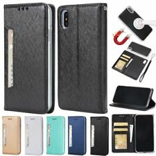Removable Leather Wallet Magnetic Flip Cover Card Slots Case For iPhone Samsung