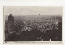 Aeroplane View London Road Ditchling Road Brighton Sussex 1914 RP Postcard 571b