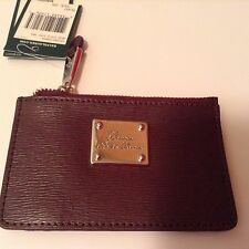$149 POLO RALPH LAUREN LEATHER SLOAN ID CREDIT CARD ZIPPED  WALLET BROWN