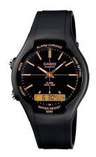 Casio Collection Armbanduhr Schwarz Wasserdicht AW90H9EVEF Analog Digital 50m