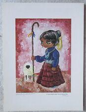 Unframed Artwork,  Lil' Navajo Shepard, Signed Print, Kimberly Millett