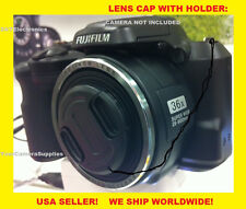 FRONT SNAP-ON LENS CAP DIRECTLY TO CAMERA FUJI S8600 S8630 FINEPIX +HOLDER