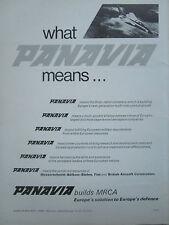 11/1970 PUB PANAVIA TORNADO COMBAT AIRCRAFT MBB FIAT BAC PVA5A ORIGINAL AD