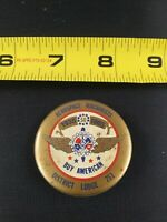 Vintage UNION Aerospace Machinists Lodge 751 USA pin button pinback *EE68