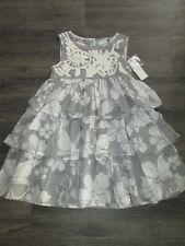 LITTLE GIRLS GREY/WHITE ROCHA JOHN ROCHA DRESS AGE 6 BNWT