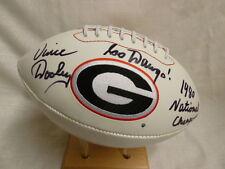 Vince Dooley 1980 Nat Champs Signed Georgia Bulldogs Full Size Logo Football JSA