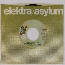 """CAROLE BAYER SAGER: You're Moving Out Today US Elektra Pop 7"""" 45 NM"""