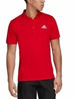NEW adidas Men's Aeroready Polo Shirt Size XL Solid Club Rib Red Tennis Golf