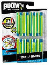 BOOMco. Extra Darts Pack, Green with Blue Stripe