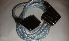 2 X elegante 1.5 M METALLO scart cavi di piombo con contatti oro placcato OFC #VID27
