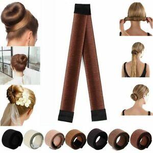 Hair Styling Donut Haar Bun Maker Natürlich Damen Dutt Fashion Haarschmuck DE