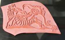 TIMES A DRAGON ANIMAL STAMP UNMOUNTED CARD MAKING NEW SCRAPBOOKING CLOCK E-06
