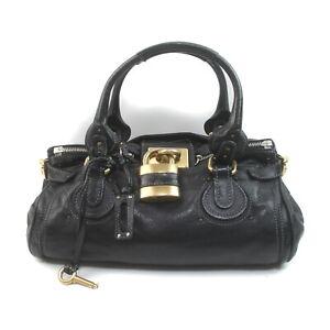 Chloe Hand Bag Paddington Black Leather 1727208