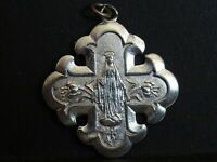 lot 2 medaille religieuse Notre Dame Cross 3.3 x 3 cm   MR 0543